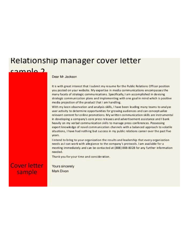 customer relationship manager cover letter samples templates