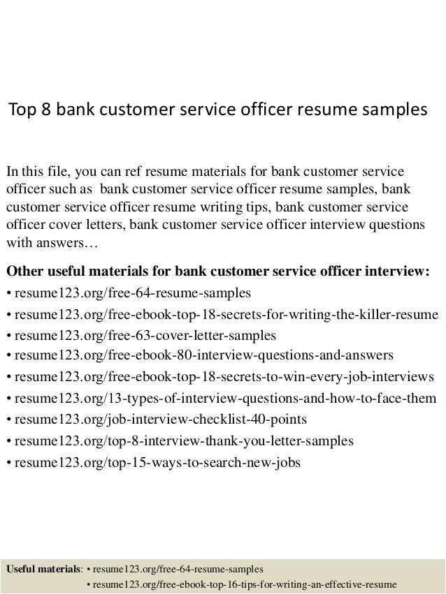 cover letter for customer service officer
