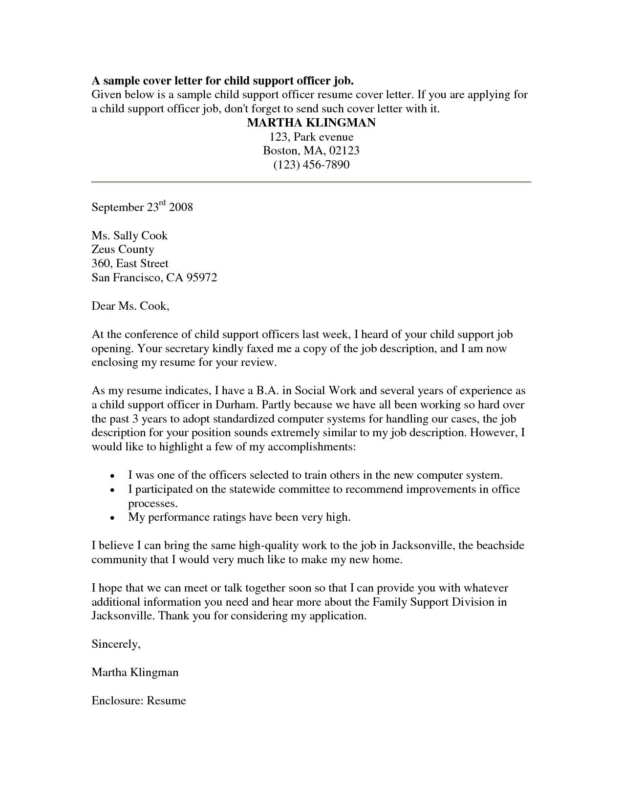 cover letter template for customer service officer