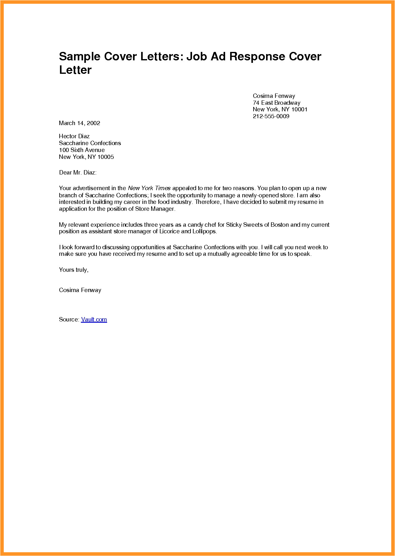 cover letter for job application pdf