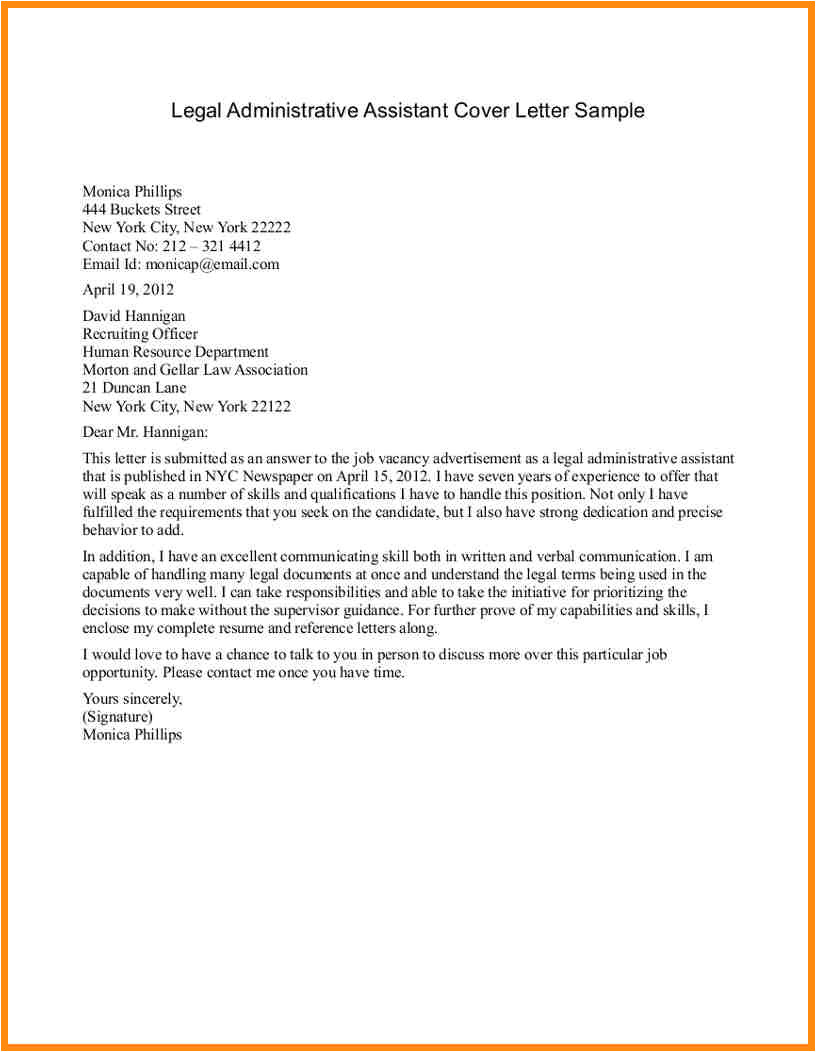 4 admin assistant cover letter no experience