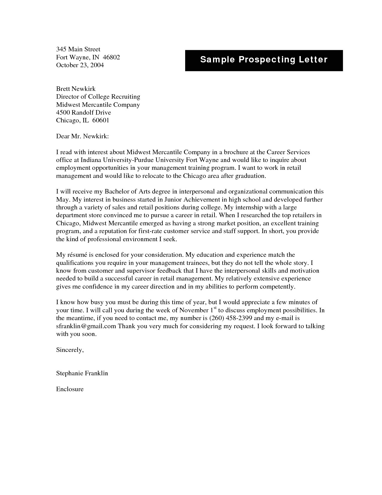 recommendation letter for resident advisor