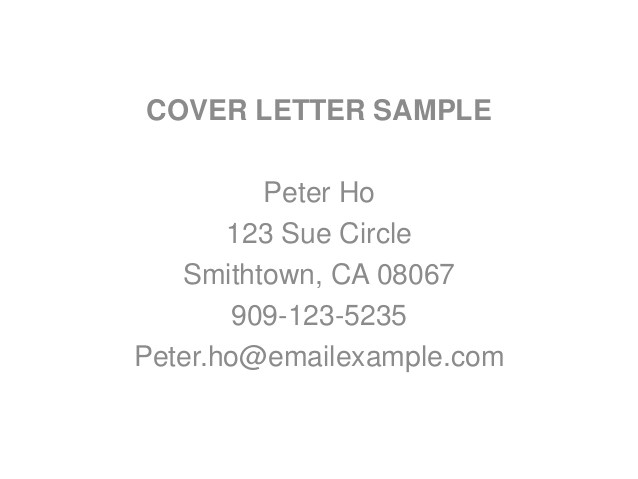 application letter sample no experience
