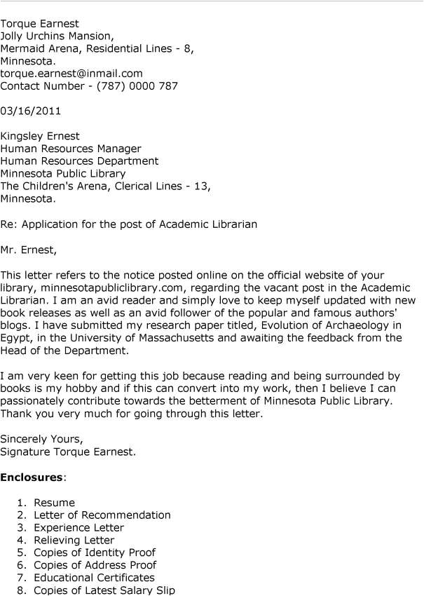 cover letter for college professor position