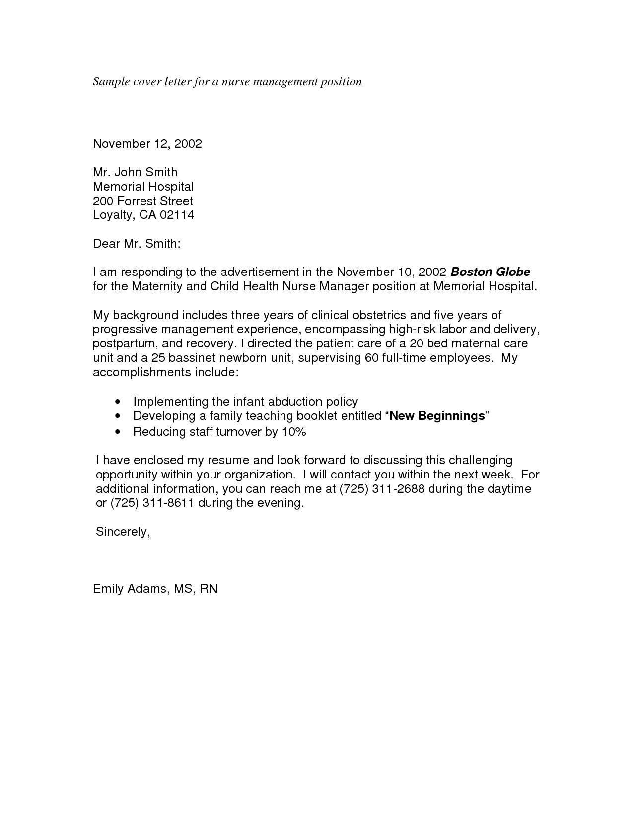 sample cover letter for applying a job 3361