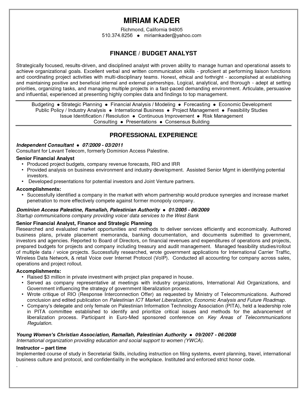 Sample Federal Budget Analyst Resume Senior Budget Analyst Resume Resume Ideas