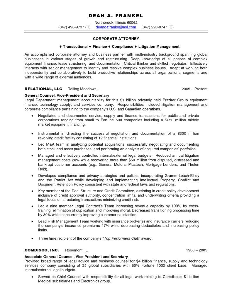 insurance defense attorney resume