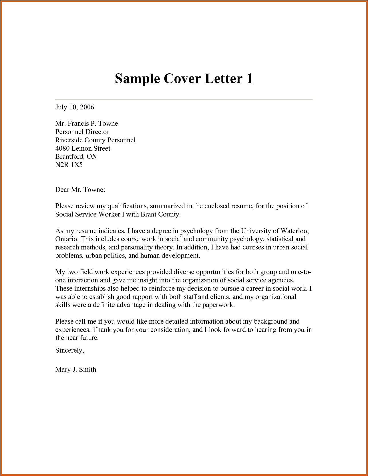 social work cover letters templates