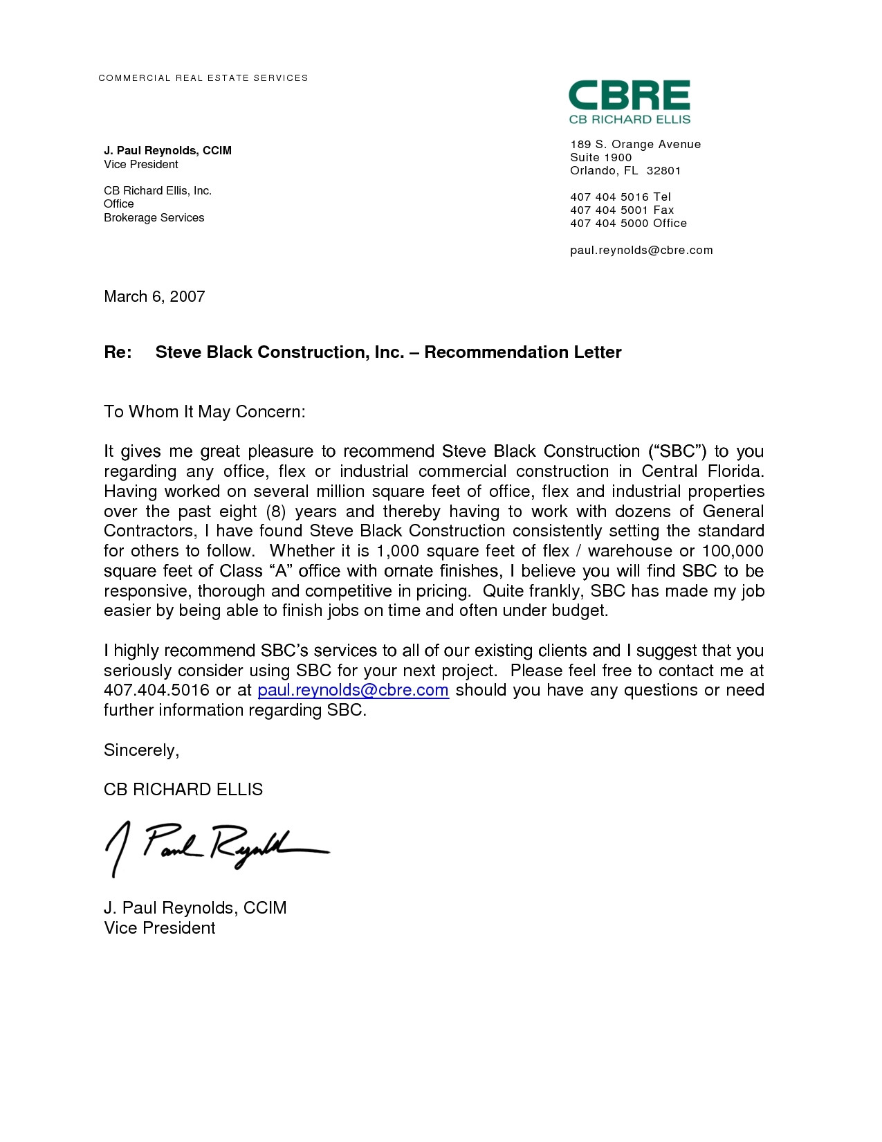 work recommendation letter sample