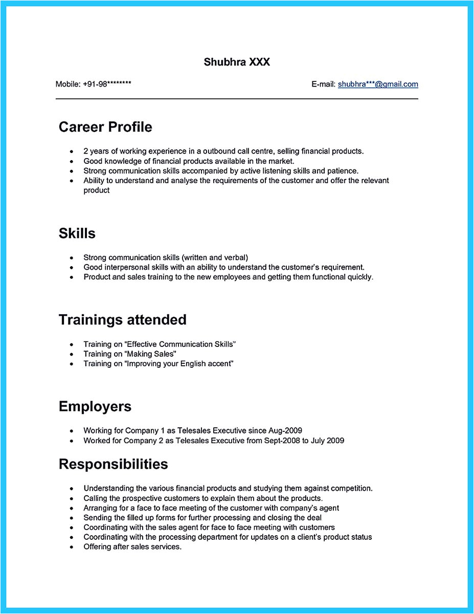 Sample Objectives In Resume for Call Center Agent Cool Information and Facts for Your Best Call Center