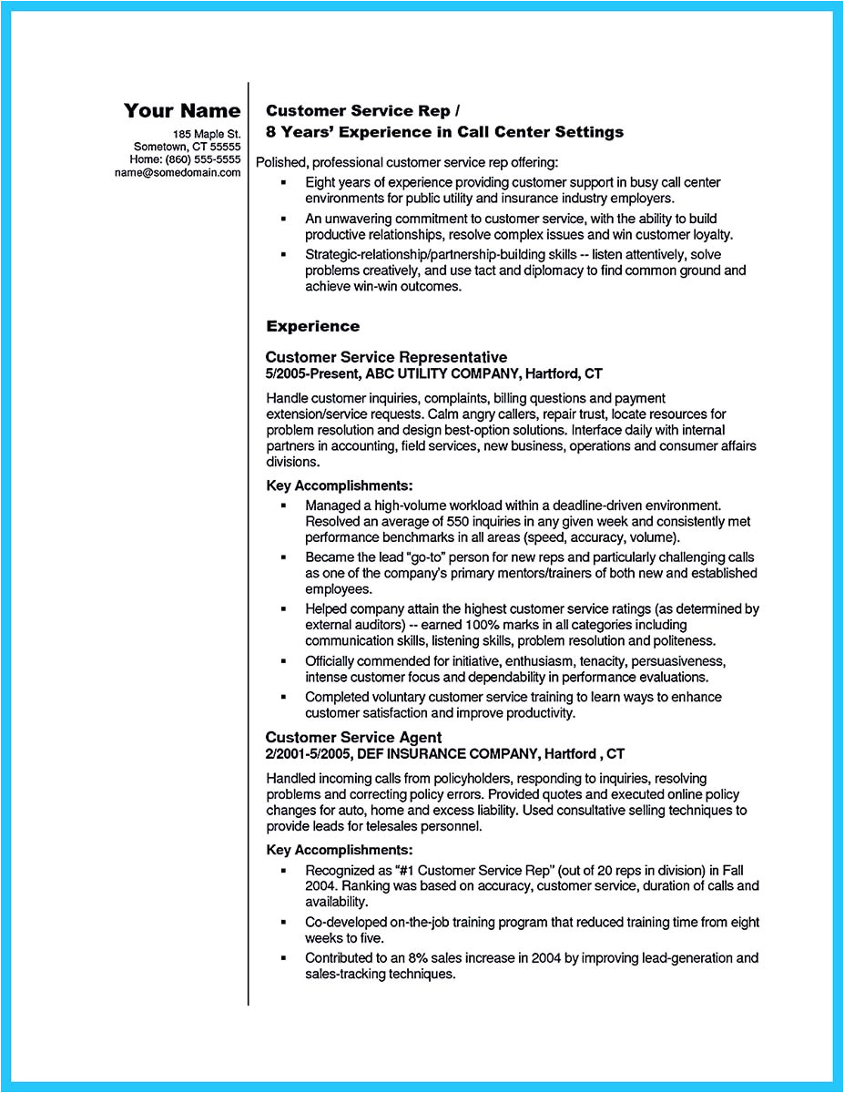 Sample Objectives In Resume for Call Center Agent Impressing the Recruiters with Flawless Call Center Resume
