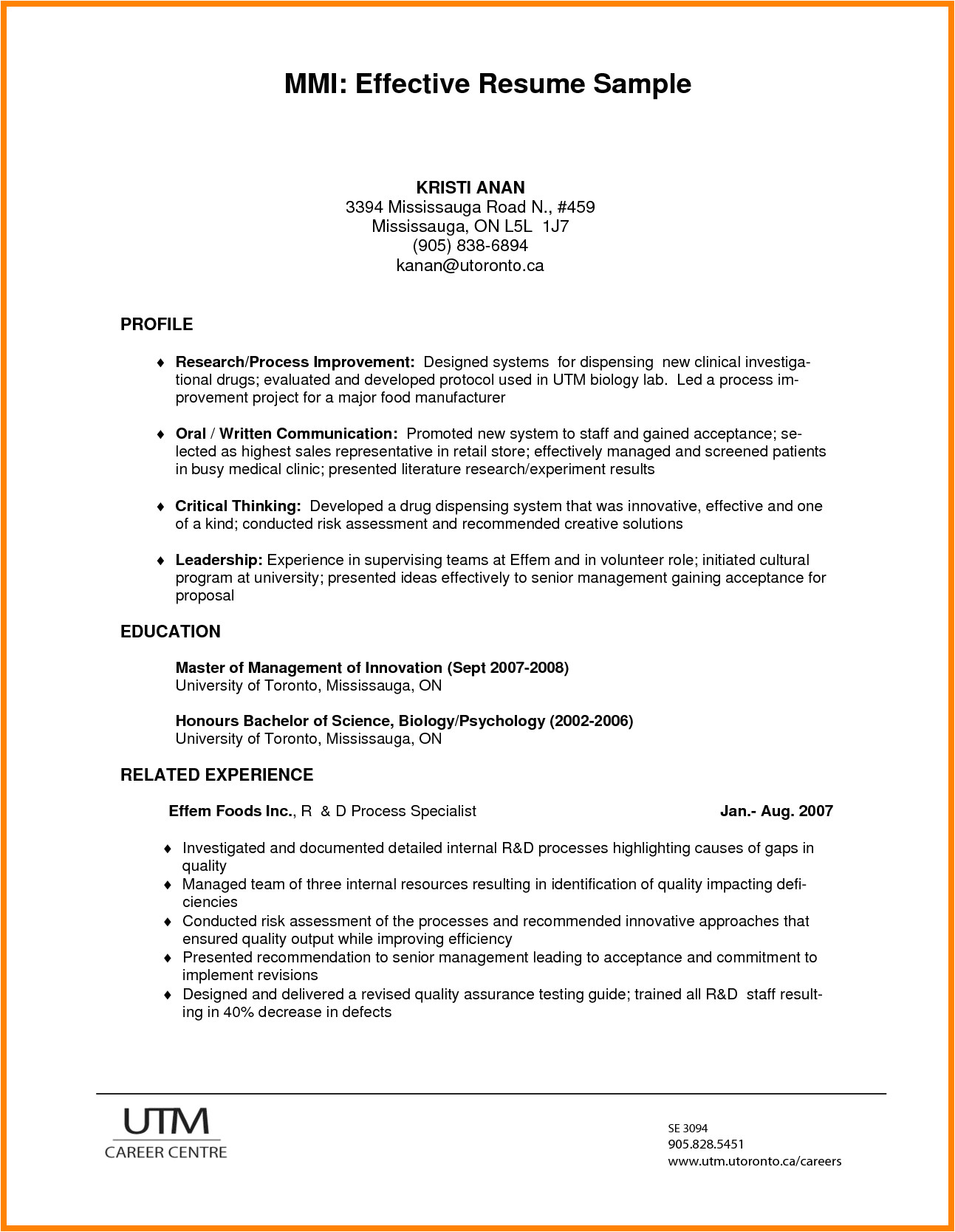 7 effective resume format
