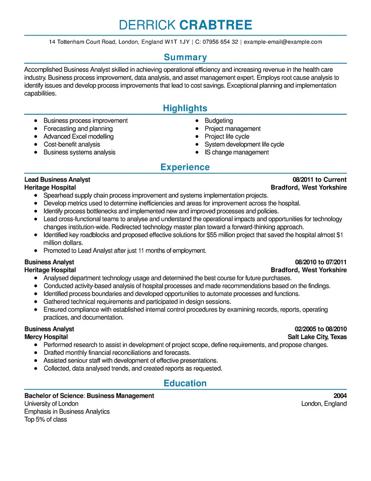 effective resumes examples