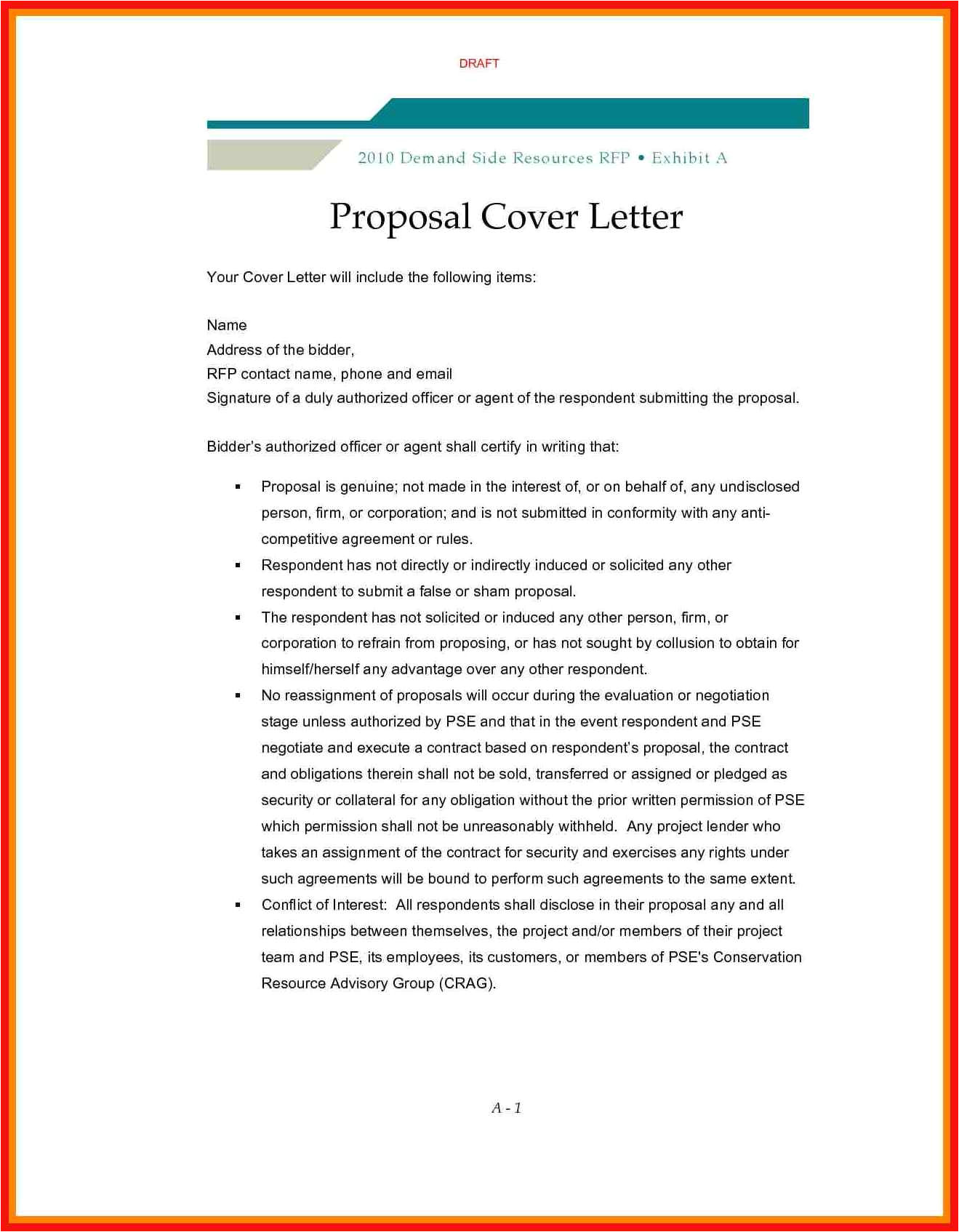 rfp cover letter template
