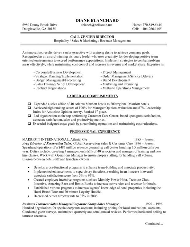 hotel manager resume samples 1913