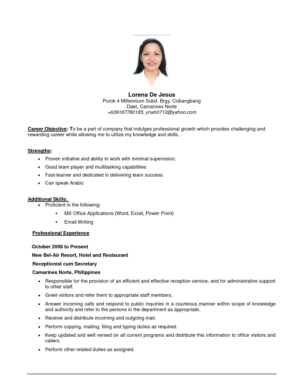 sales lady resume