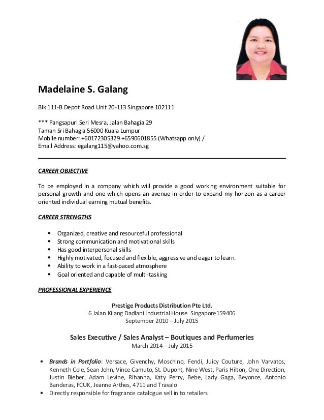 Sample Of Resume for Sales Lady Sales Lady Resume Resume Ideas