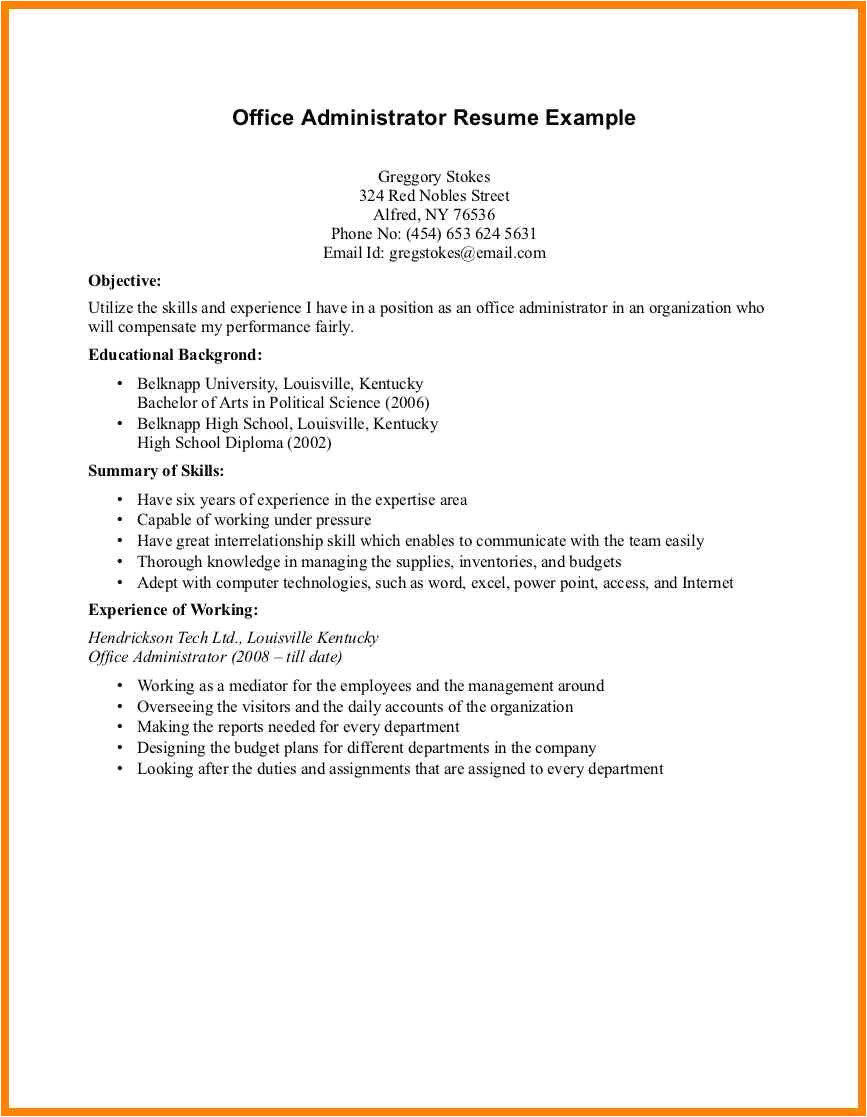 7 resume for working student