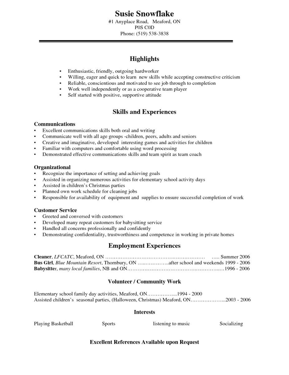 Sample Of Resume for Working Student High School Student Resume Examples for Jobs Builder