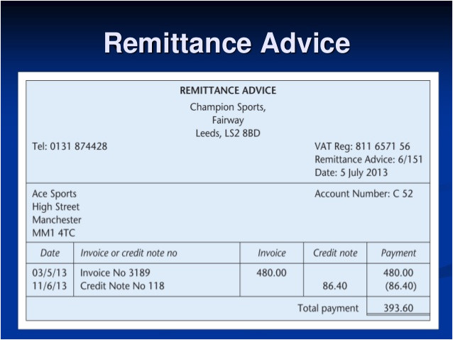 remittance template free
