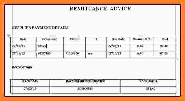 5 sample remittance advice slip