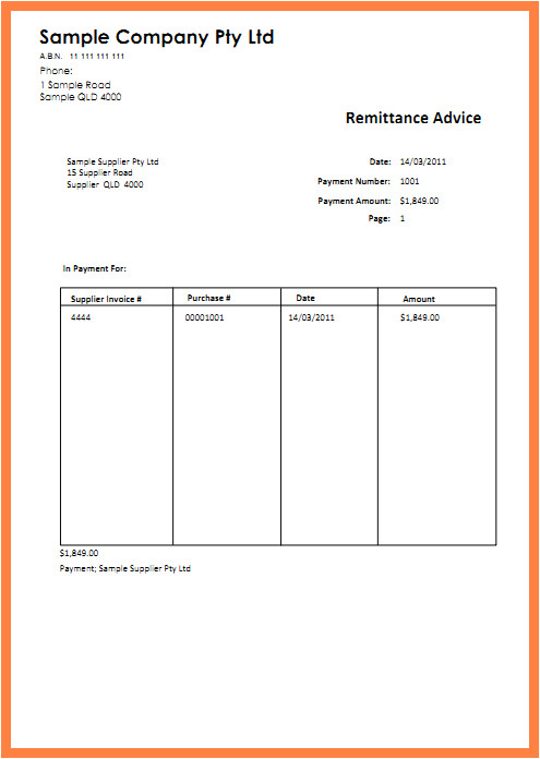 Sample Remittance Advice Template 9 Sample Remittance Advice Slip Salary Slip