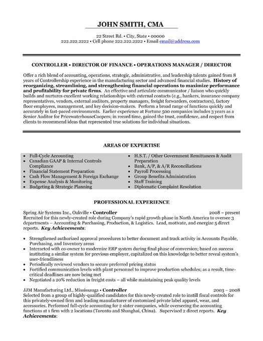 Sample Resume Financial Controller Position Click Here to Download This Financial Controller Resume