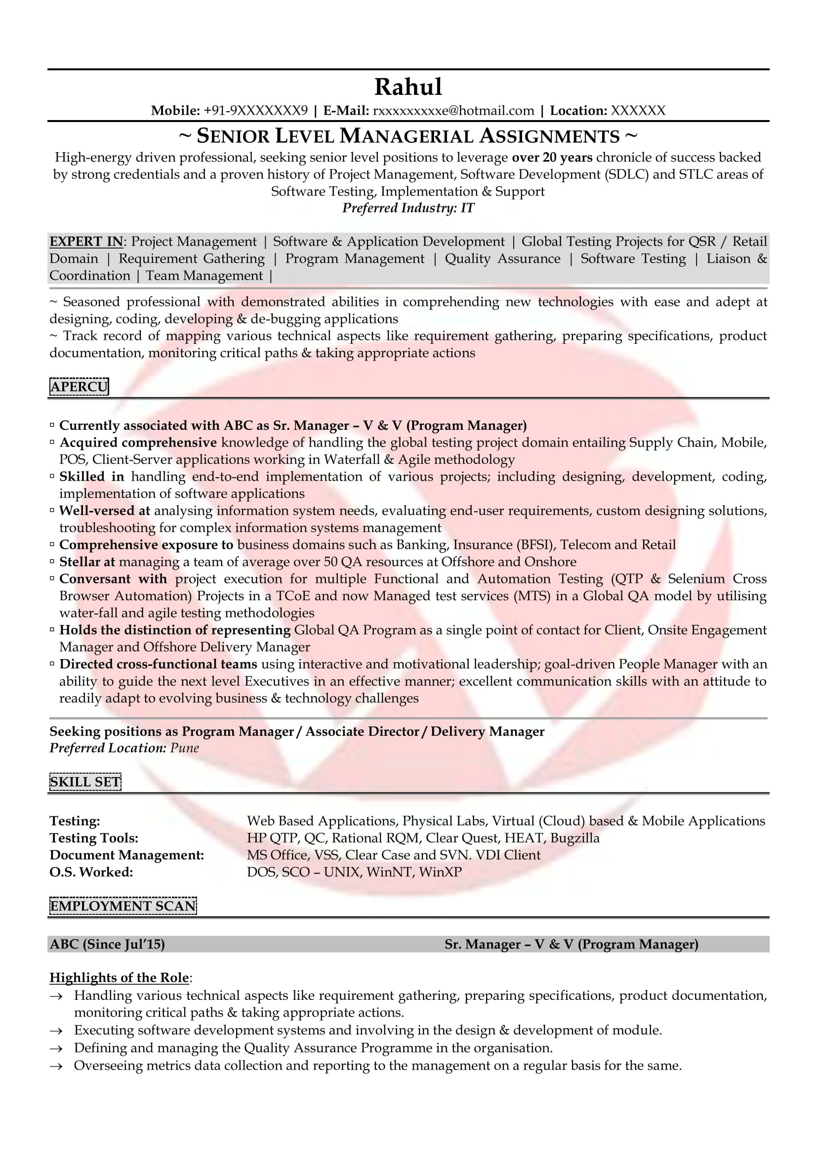 Sample Resume for 2 Years Experience In Manual Testing 34 Sample Resume for 2 Years Experience In Manual Testing