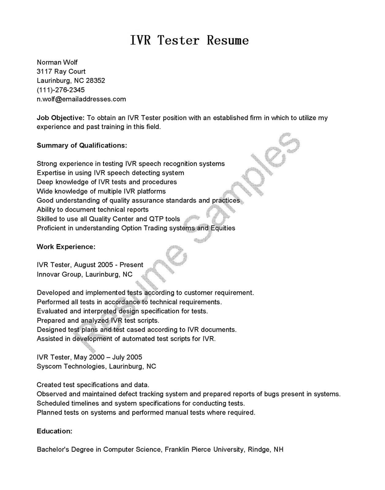 sample resume for manual testing professional of 2 yr experience best of 1 year experience resume format for manual testing fresh resume