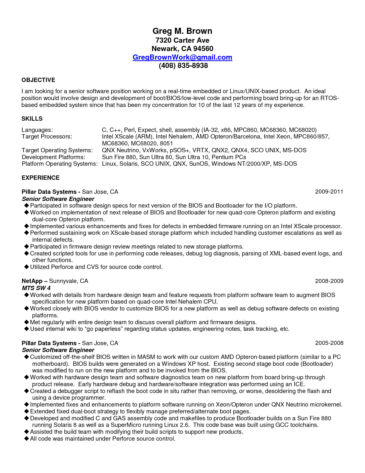 Sample Resume for 2 Years Experienced software Engineer Embedded Engineer Resume 2 Year Experience Bongdaao Com