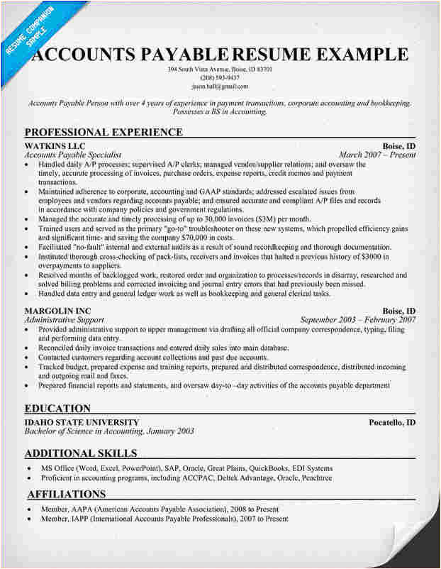 Sample Resume for Accounts Payable and Receivable Accounts Receivable Resume Templates Business Proposal