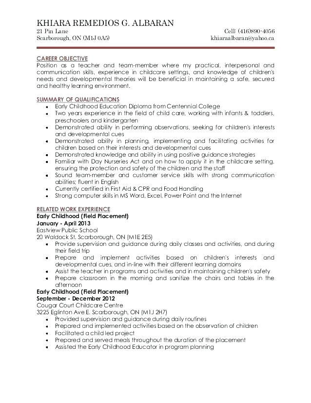 aged care worker resume