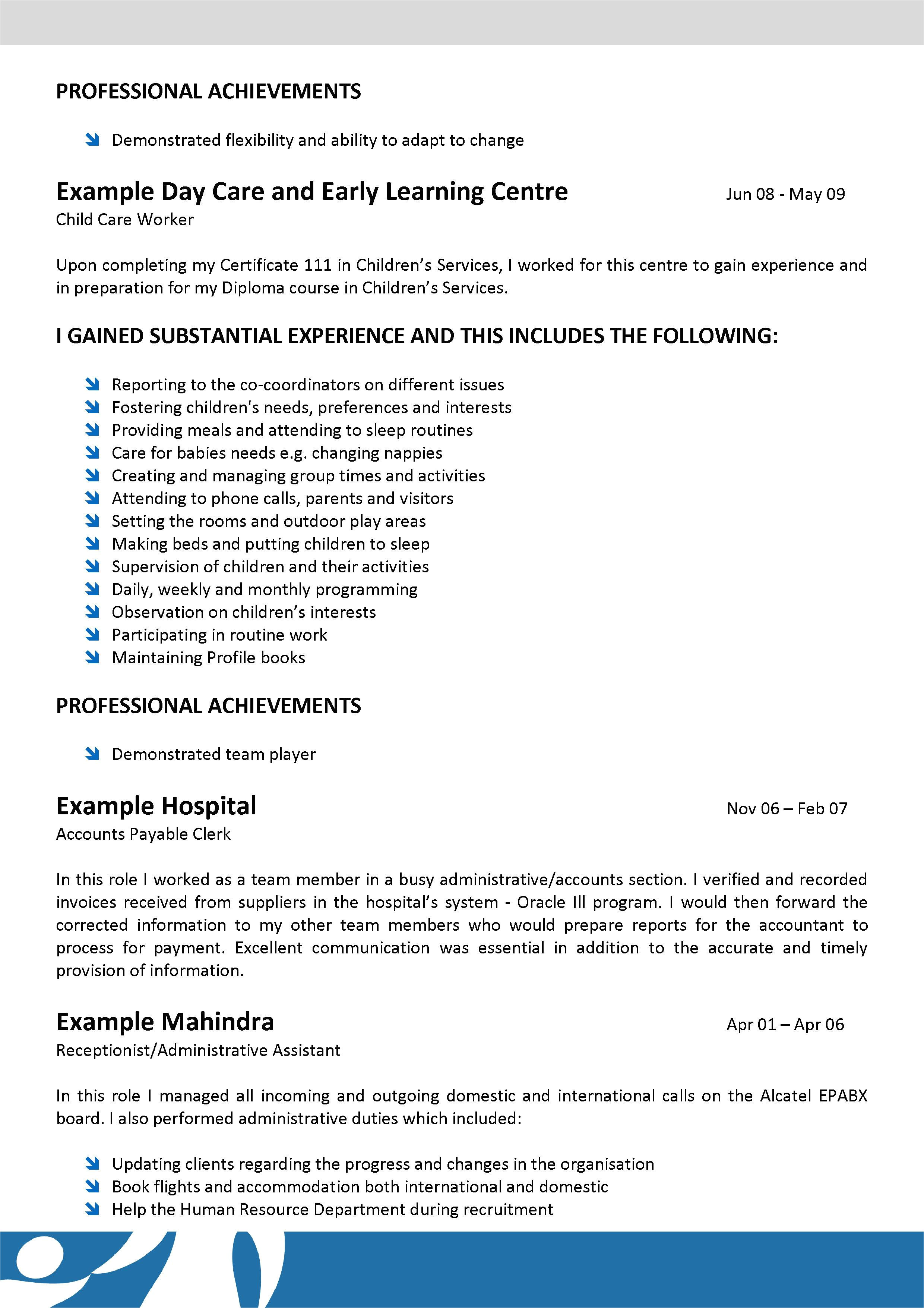 aged care nursing community resume template 005