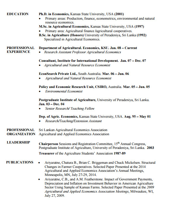 agriculture resume templates free pdf word samples