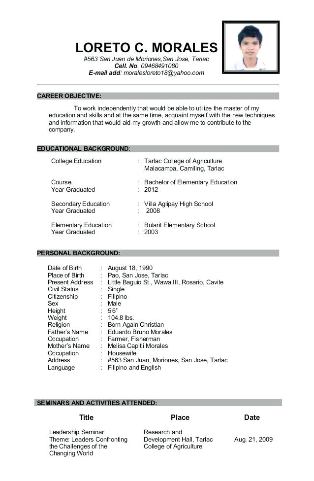 Sample Resume for Agriculture Graduates Resume Of A Highschool Graduate 20 Resume Templates for