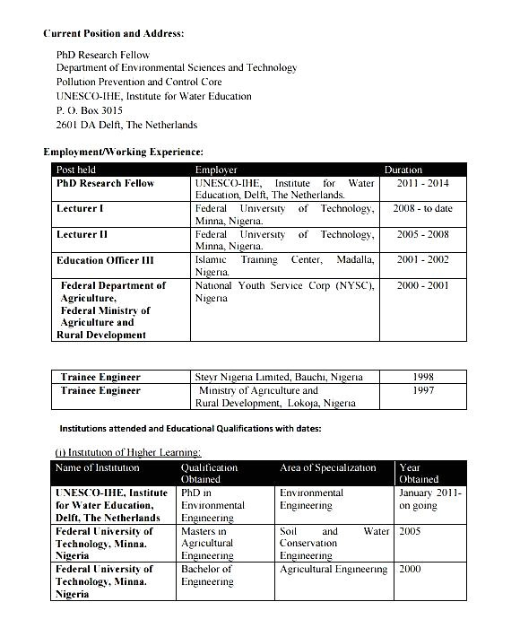 Sample Resume for Agriculture Graduates Sample Resume for Agriculture Graduates Free Samples