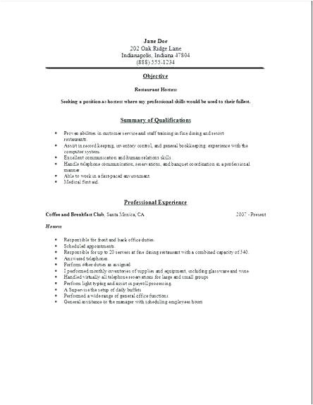 air hostess resume objective