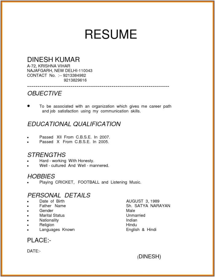 Sample Resume for All Types Of Jobs 3 Types Of Resume Sample Resume Resume Examples