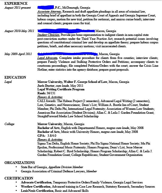 different formats for resumes
