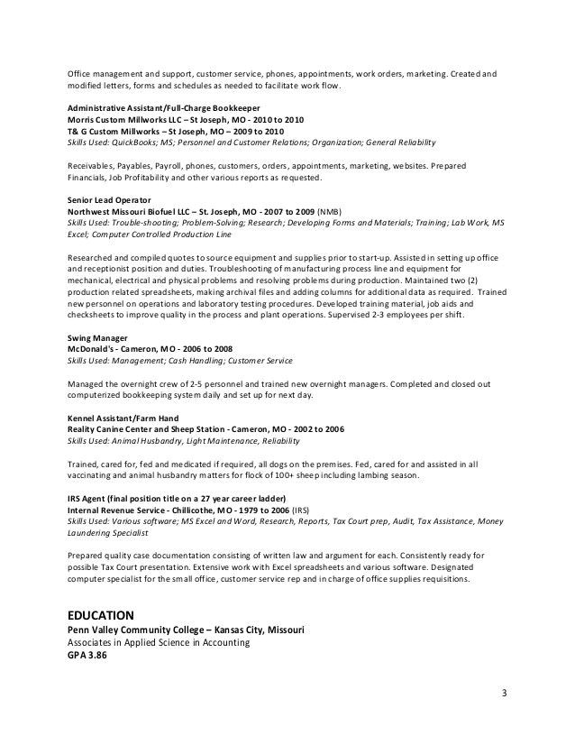 assembly line operator resume sample
