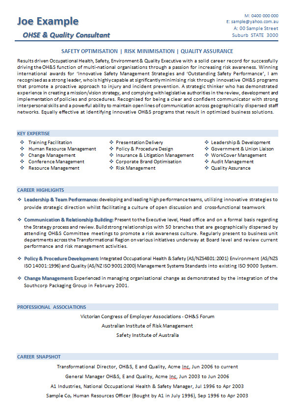 Sample Resume for Australian Jobs Resume Templates Australian Resume Resume Samples