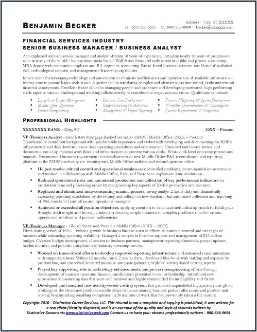 Sample Resume for Business Analyst In Banking Domain Business Analyst In Banking Domain Resume Nppusa org
