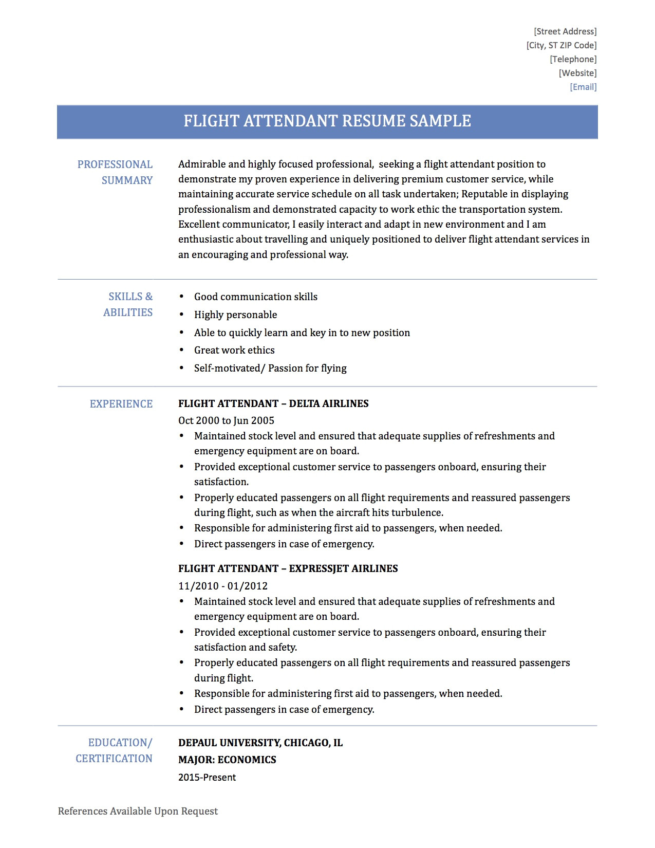 flight attendant sample resume tips templates for cabin crew with no experience attendent resume