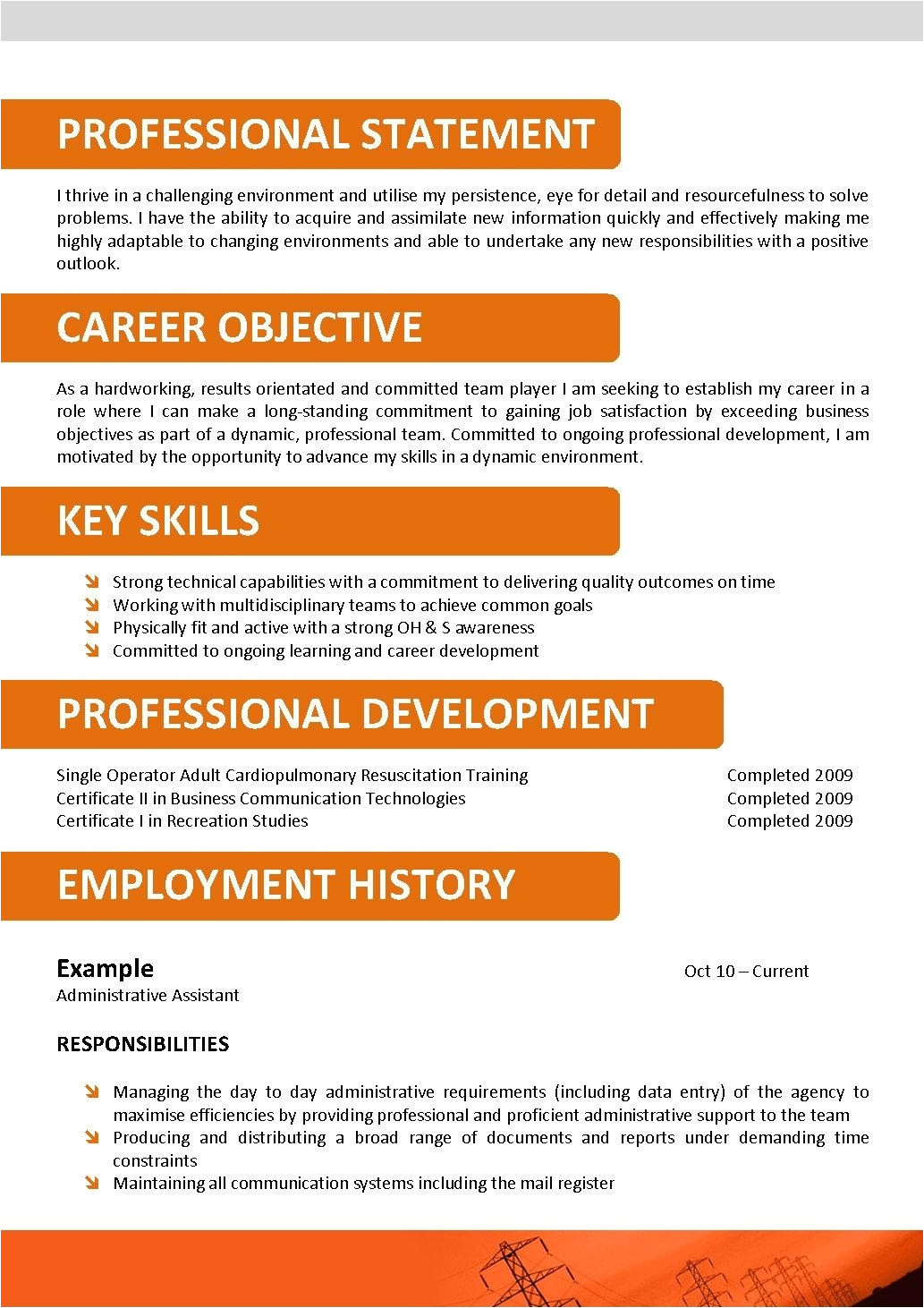 call center resume template