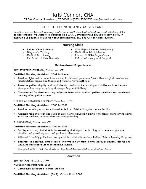 Sample Resume for Cna with No Previous Experience New Cna Resume Talktomartyb