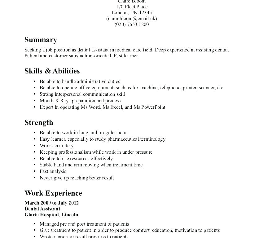 sample resume for cna with no previous experience