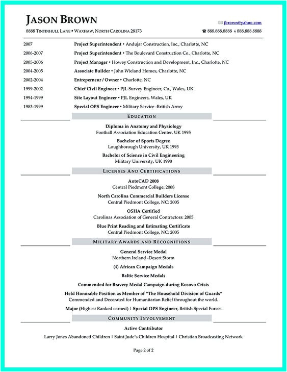 Sample Resume for Construction Site Supervisor Simple Resume Examples and Resume On Pinterest