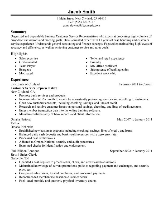 Sample Resume for Customer Service with No Experience Unforgettable Customer Service Representative Resume