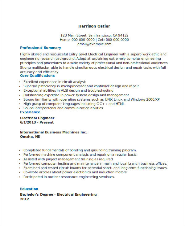 Sample Resume for Diploma Electrical Engineer Essay 1 Help University Of toronto Medical School