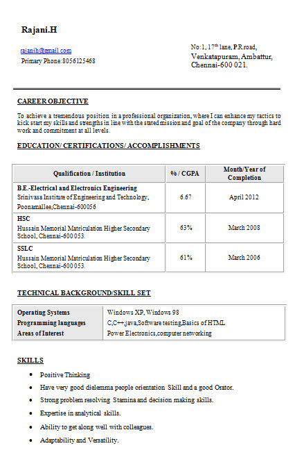 Sample Resume for Diploma Electrical Engineer Resume Templates